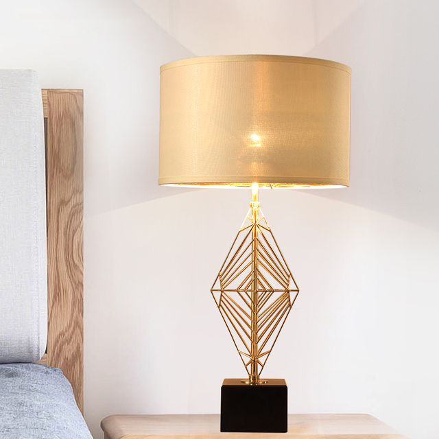 living room standing light modern gallery wall fashion study lampara de pie hotel lights gold table lamp black shade metal