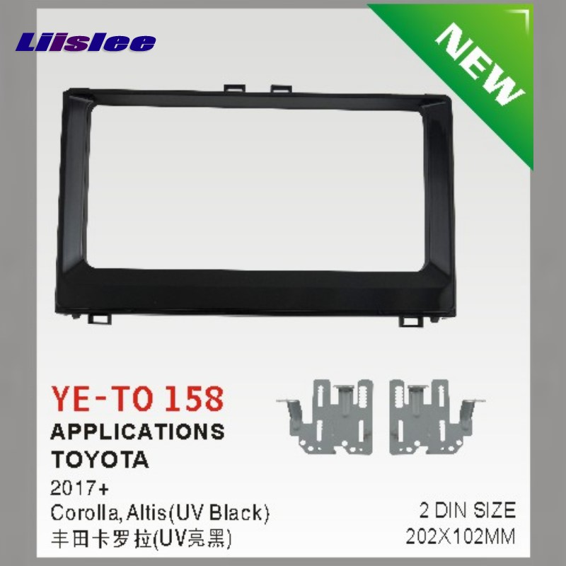 Liislee Double 2 DIN Audio Frame Panel Fascia Board For Toyota Auris Altis Corolla 2015 2018