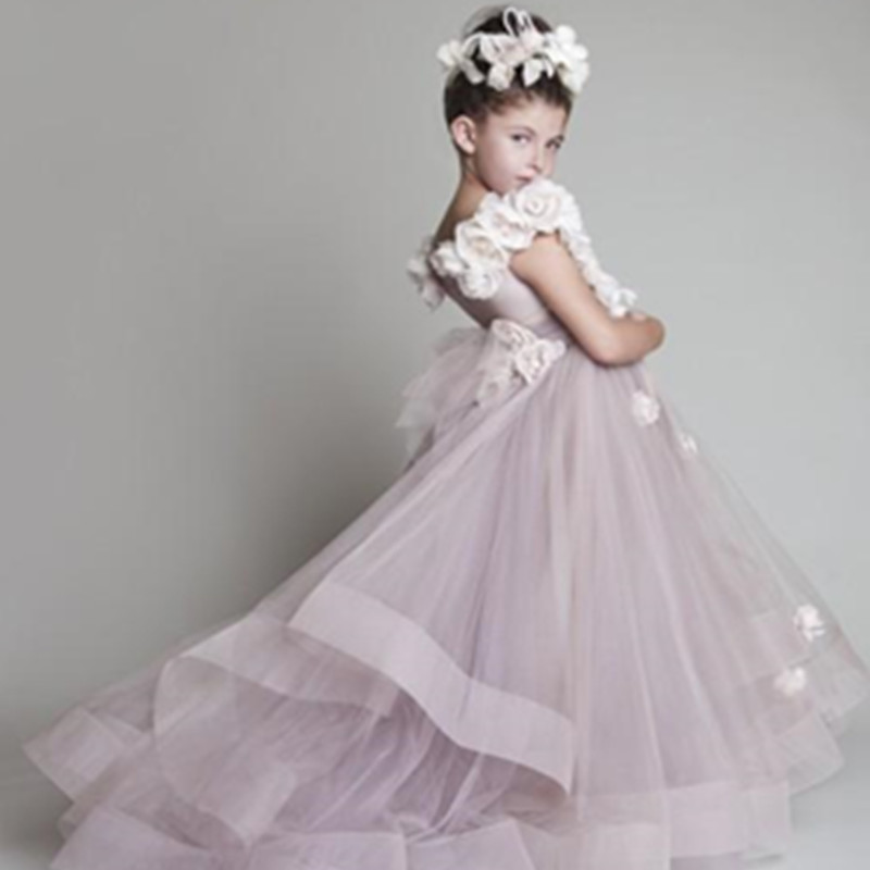 12 Years Old Flower Girl Dresses For Wedding Organza Floor Length