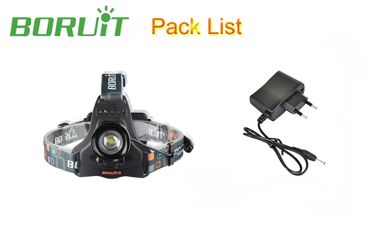 Boruit RJ-2157 headlamp headlight led flashlight head (11)