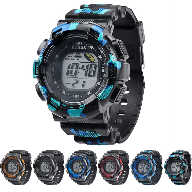 Men Watch Fashion LED Digital-watch Alarm Date Rubber Army Watches Man Sport Wristwatch 2016