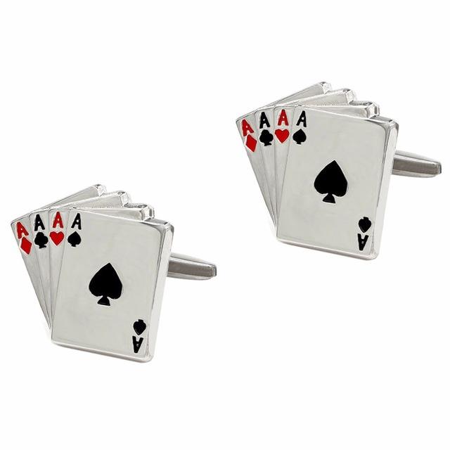 Vagula Poker A Gemelos Cufflinks Wedding Cuff Links Designer Jewelry 258