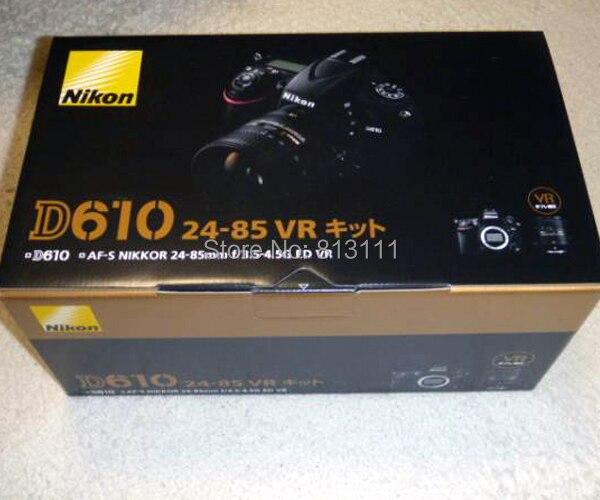 Новый Nikon D610 243 МП цифровая зеркальная камера с AF S ED VR 24 85 мм объектив купить на AliExpress