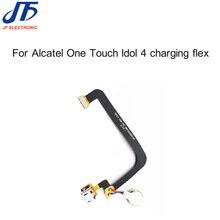 USB de alta Qualidade Cabo Flex Para Alcatel One Touch Ídolo 4 Carregador Porto Flex Com Microfone Conector Dock de Carregamento Flex 10 pcs