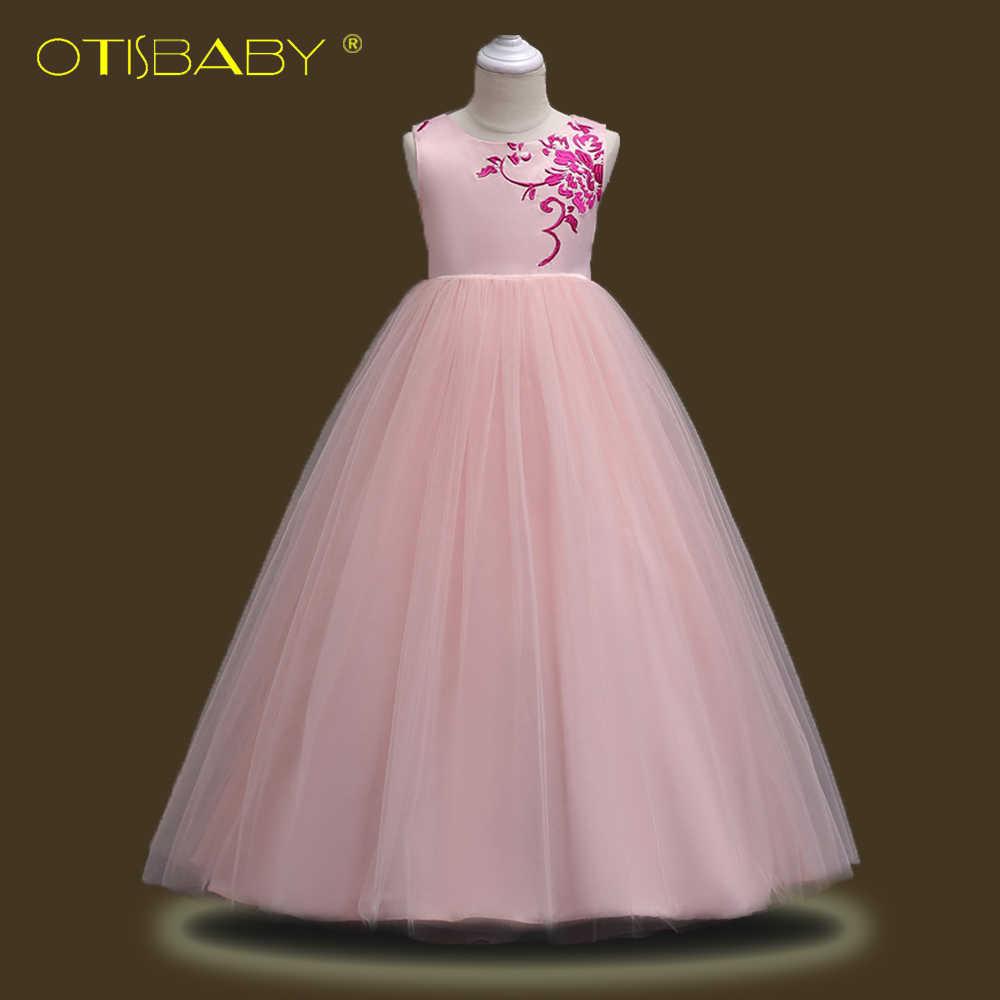 f375c8e443a Для девочек-подростков кружевные вышитые платья с вуалью Цветы Одежда для  свадьбы
