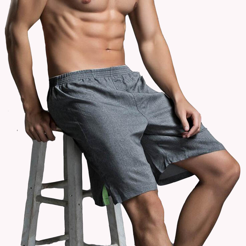 KWAN.Z brand men's shorts breathable casual shorts one five shorts cotton linen clothing masculina de marca shorts masculino