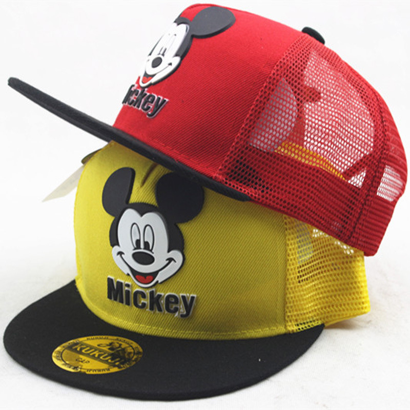 Cartoon Mouse Children Hat Boys And Girls Meshy Ventilate Healthy Cute Style Baseball Caps Sunscreen Four Seasons Applicable