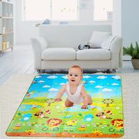 Baby Crawling Play Mat 180x 150cm Double Site Climb Pad Fruit Letter Kids Play Game Mat