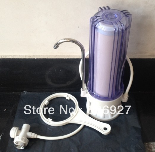 CLEAR SINGLE STAGE CERAMIC DESKTOP WATER FILTER 10 INCHES tw 4a single stage 4 l rotary vane type portable vacuum pump with a single stage
