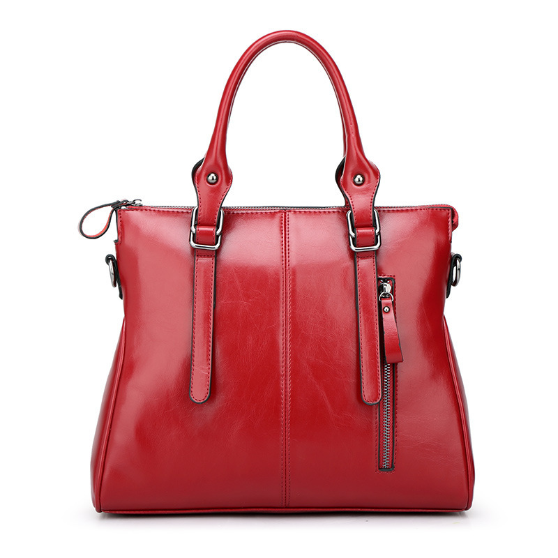 WITFLASH New Arrival 2017 Cowhide Leather Women Handbag Soft Leather Fashion Shoulder Hand Bag Large Capacity Casual Handle Bags