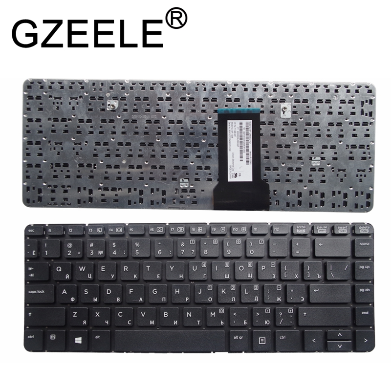GZEELE New RU Russian Keyboard For HP ProBook 430 G1 Keyboard Black