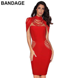 8bcc70c8097 LEGER BABE 2018 Summer Lady Red Bandage Bodycon Dress