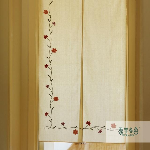 Tela r stica bordado l quido de cortina cortina partici n cortina de aire bordado cortina - Telas rusticas para cortinas ...