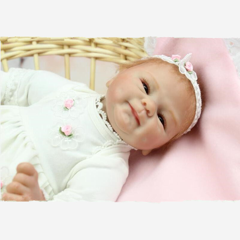 45CM Bebe Silicone Reborn Babies Realistic Doll kid Playmate Gift For Girls Baby Alive Soft Toys For Bouquets Juguetes Kids Gift