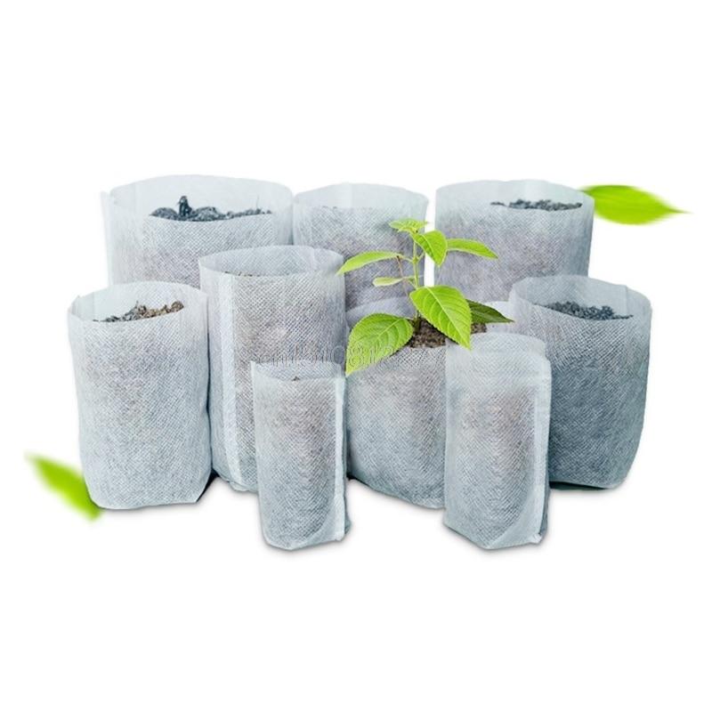 100 шт. кассеты для рассады-мешки для растений ткани сад мешки для питомника поставки # H0VH # Прямая доставка