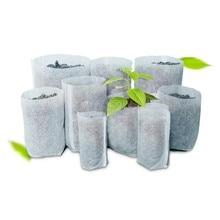 100 pces berçário potes mudas-levantando sacos tecidos jardim berçário sacos suprimentos # h0vh # transporte da gota