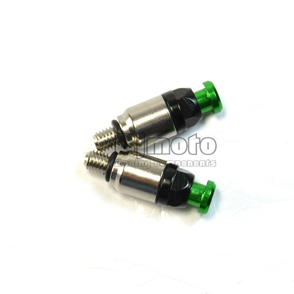 BJ Global M5 Motorcycle Front Fork Bleeder Air Valves For KX125 KX250 KXF250 KXF450 CRF450 YZ125 WR250 Motocross Dirt Bikes Green