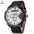 Relojes Hombre Reloj de Los Hombres de Primeras Marcas de Lujo Reloj de Cuero de Los Hombres A Prueba de agua Hombres Reloj Militares Wach Cuarzo Tag Reloj de Los Hombres Reloj del deporte