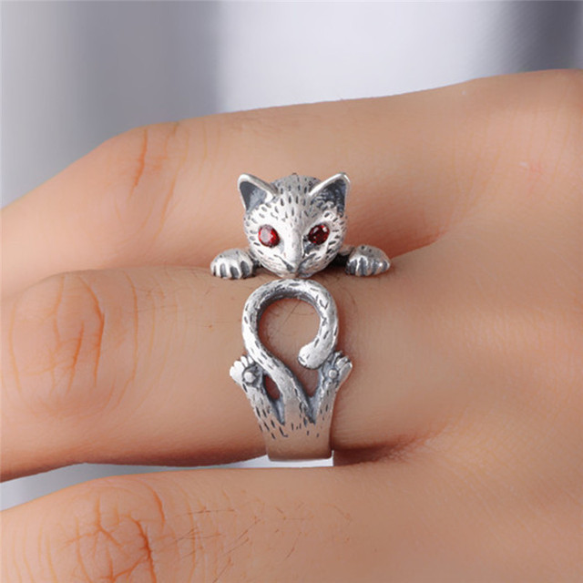 New Vintage Punk Kitty Hochzeit Ring Boho Chic Knuckle Tier Katze
