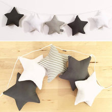 Nordic Baby Room Handmade Nursery Star Garlands Christmas Kids Room Wall Decorations Photography Props New Year Gifts(China)