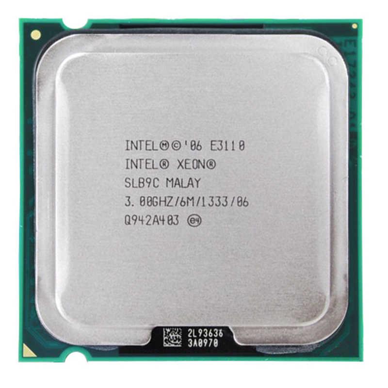 إنتل زيون 2 النواة E3110 المعالج إنتل E3110 CPU E8400 3.0GHz LGA 775 6MB L2 ثنائي النواة FSB 1333MHz