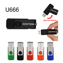 Newest Rotation Metal USB Flash Drive 2.0 Pendrives USB Disk Memory Stick Pen Driver Personalized Gifts External Storage U666