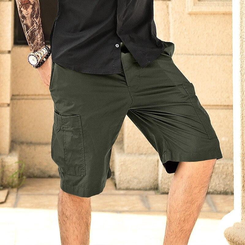 2016 New men summer military cargo shorts bermuda masculina jeans male fashion baggy cargo shorts