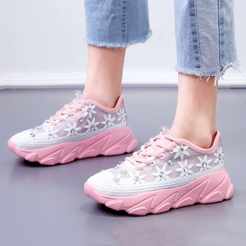 Platform Shoes Women Flower Sneakers Mesh Breathable Height Increase Womens Vulcanized shoes Multi Ladies Shoes 35-41 06wPlatform Shoes Women Flower Sneakers Mesh Breathable Height Increase Womens Vulcanized shoes Multi Ladies Shoes 35-41 06w