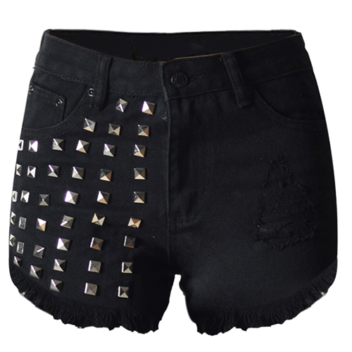 Compare Prices on Women Black L Jean Shorts- Online Shopping/Buy ...