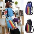 Moda nylon rainbow design mochila escolar para adolescentes menina das senhoras das mulheres back pack mochila bagpack mochila 2016 novo