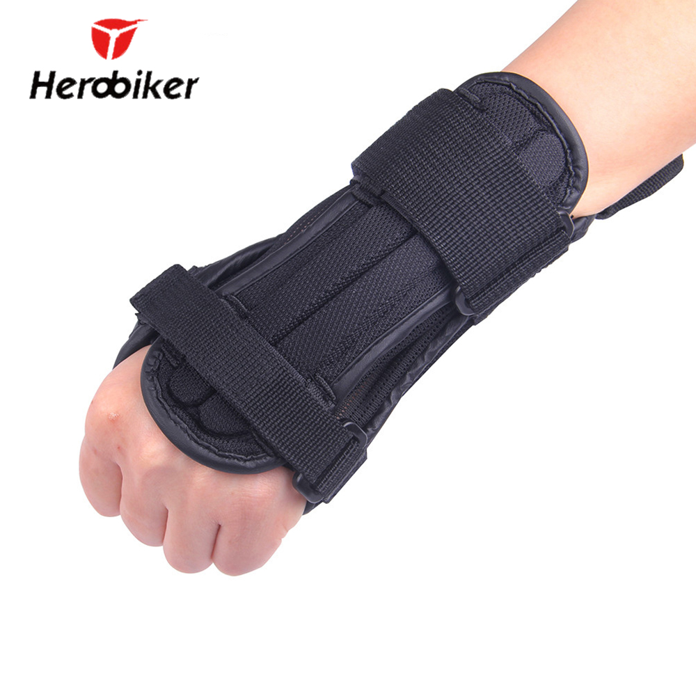 HEROBIKER Wrist Protection Skating Snowboard Skiing Armguard Adjustable Wrist Support Hand Protector Palm Padded Hand Guards