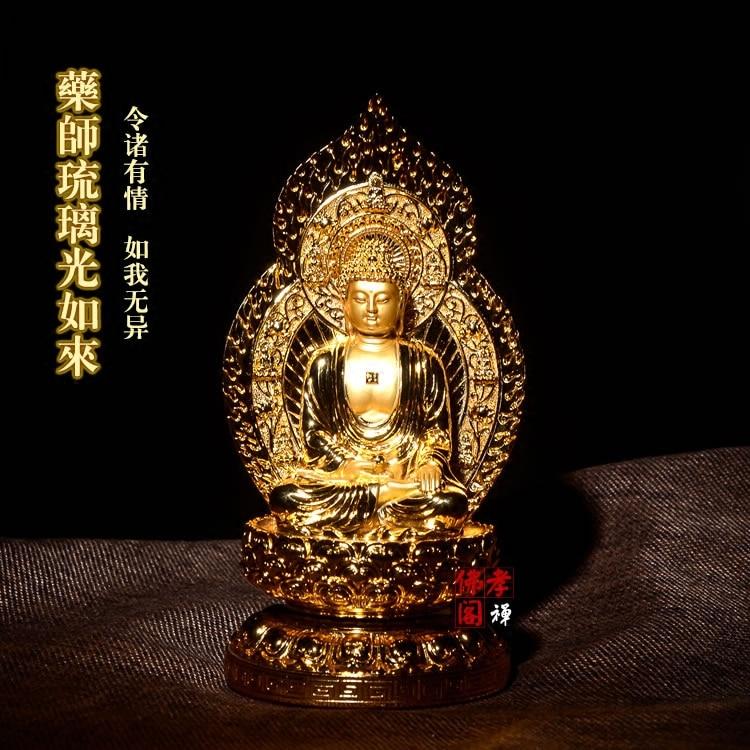 The resin of Buddha statue decoration crafts home decor worship Bhaishajyaguru Medicine Buddha Bodhisattva figurine