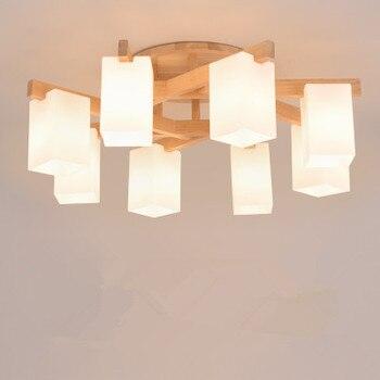 Nordic Kolye Işıkları Ahşap Alüminyum Abajur Endüstriyel Aydınlatma Çatı Lamparas Renkli Kolye Lamba E27 Taban aydınlatma armatürleri