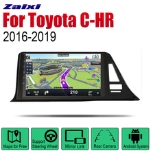 ZaiXi Auto Player GPS Navigation For Toyota C-HR 2016~2019 Car Android Multimedia System Screen Radio Stereo цена