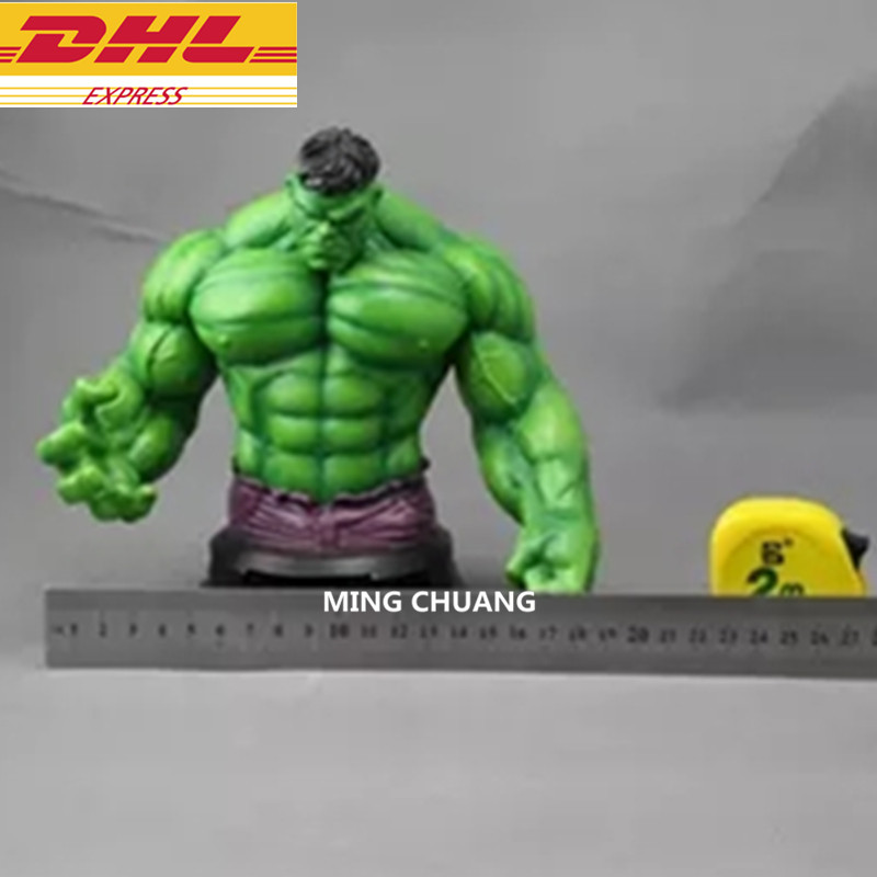 Statue Avengers Infinity War Bust Superhero Hulk Half-Length Photo Or Portrait PVC Action Figure Toy D293Statue Avengers Infinity War Bust Superhero Hulk Half-Length Photo Or Portrait PVC Action Figure Toy D293