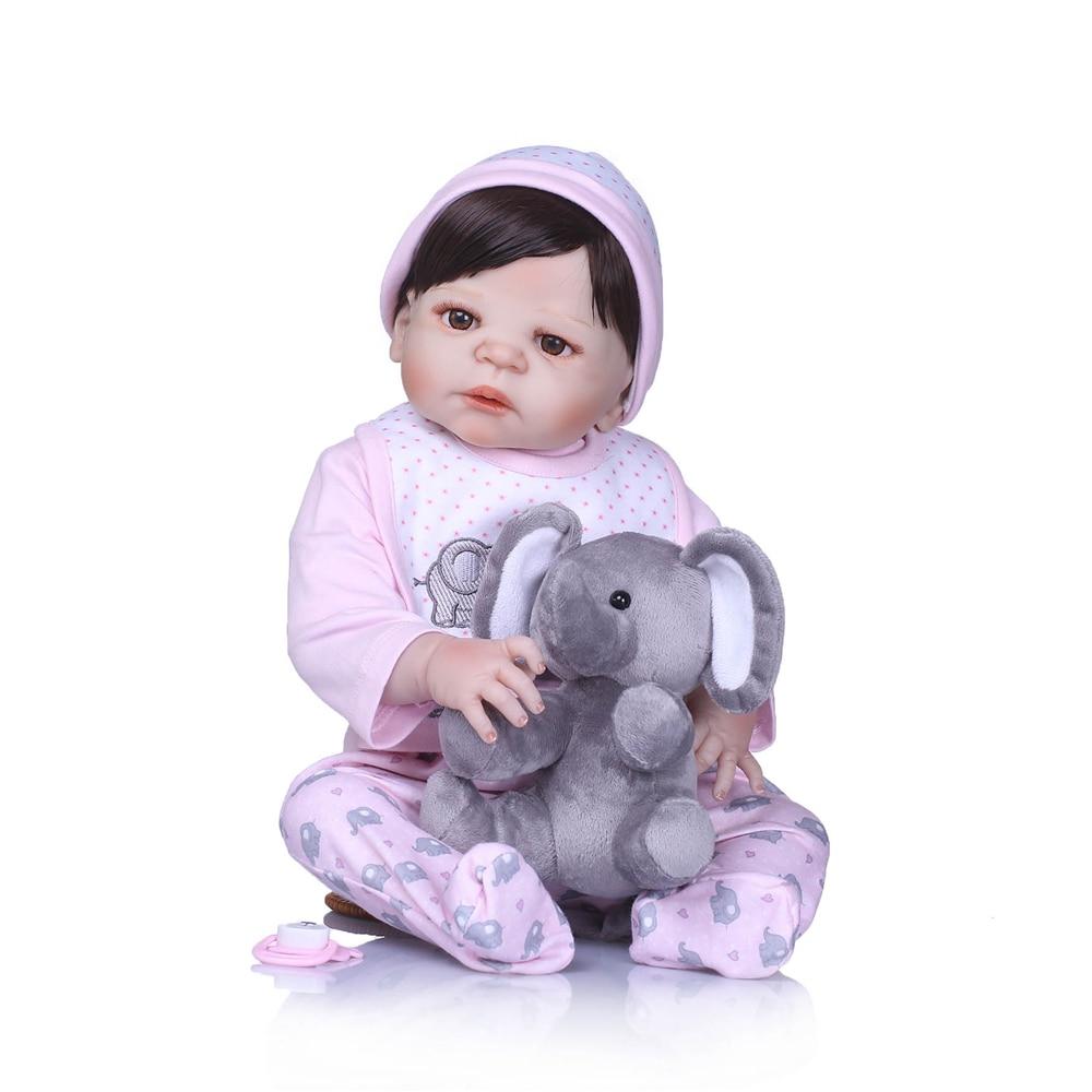 New arrival Handmade full Silicone vinyl wear pink clohtes Lifelike toddler Baby Bonecas girl kid bebe doll reborn menina de
