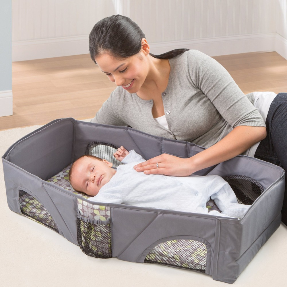 Multi-function Portable Baby Cribs Newborn travel playpen cribs cot Sleep Bag Infant safe Cot Bags Portable Folding Mummy Bags new style multifunctional infant crib casters mosquito nets cot playpen portable safety folding baby cribs