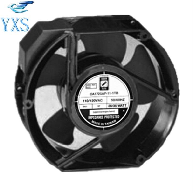 OA172SAP-11-1TB AC 110V/120V 50/60HZ 26W/35W 17250 17CM 172*150*50mm 235CFM 2 Wires Cooling Fan ножницы для живой изгороди 10 truper tb 17 31476