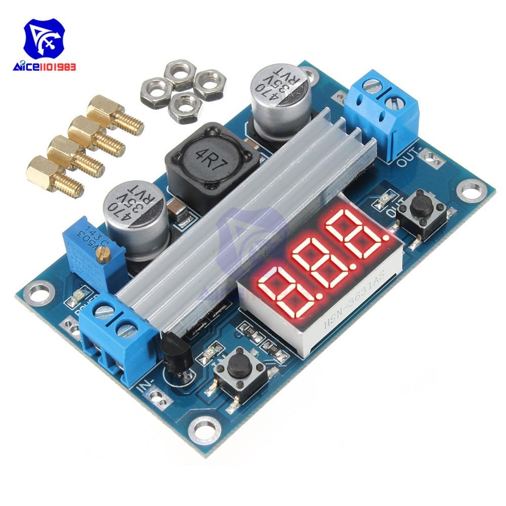 LTC1871 Boost Step Up Module Power Supply LED Voltmeter Digital Red LED Display Board DC-DC 100W 3-35V 12V To 3.5-35V Heat Sink