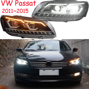 Image 3 - 2pcs car styling for B7 Passat headlight,2012 2013 2014 205,bumper lamp for Passat fog light,car accessories,Passat b7,magotan