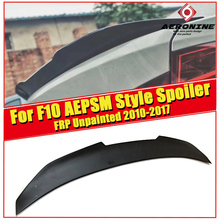 F10 5 series & M5 FRP Unpainted kick big trunk spoiler wing PSM style For BMW 520i 525i 528i 535i 550i wing rear Spoiler 2010-17 for bmw f10 carbon fiber cf trunk spoiler wing psm style 5 series 520i 525i 530i 550i high kick big rear wing spoiler 2010 2017