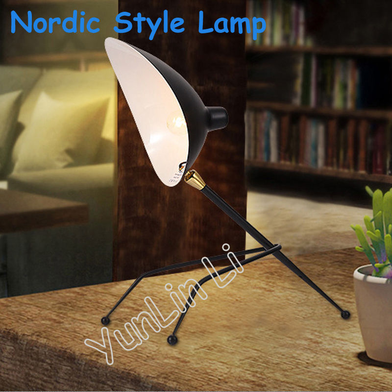 Здесь продается  Nordic Style Lamp Creative Bedroom Lamp Postmodern Retro Living Room Table Lamp Simple Iron Lamp  Свет и освещение