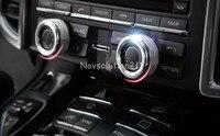 Car Inner Speaker Knob Cover Trim 2pcs For Porsche Panamera 970 2010 2015