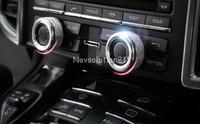 Car Inner Speaker Knob Cover Trim 2pcs For Porsche Panamera (970) 2010 2015