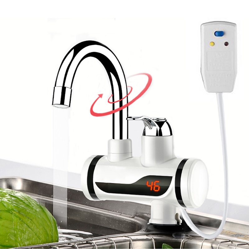 Electric Water Heater Tap Instant Hot Water Faucet Heater Cold Heating Faucet Tankless Instantaneous Water Heater