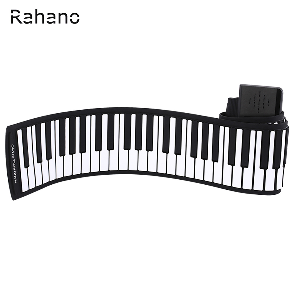 Rahano KONIX 88 Keys MIDI 128 Tones Electronic Organ Roll Up Folding Piano Built-in Speaker for Kids the black keys the black keys el camino 2 lp
