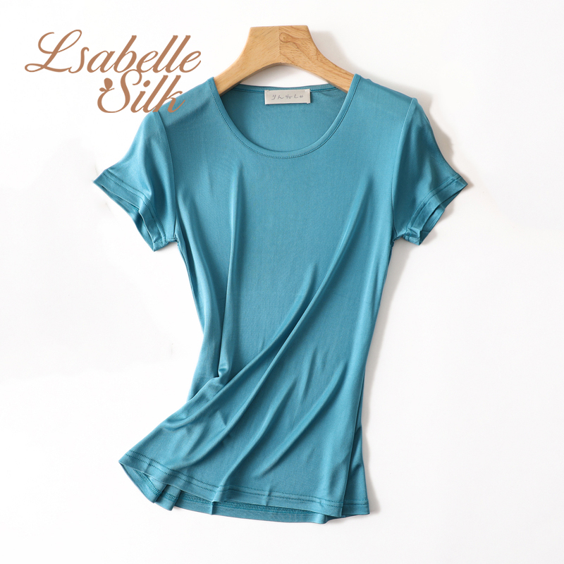 100 Natural silk modis plus size streetwear t shirt women camiseta mujer tshirt t shirt tee