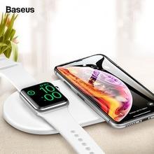 Беспроводное зарядное устройство Baseus Qi для Apple Watch iWatch 4, 3, 2, 1, 2в1, быстрая Беспроводная зарядная подставка для iPhone 11 Pro Max X, samsung S10, S9
