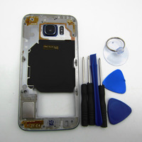 Genuine Middle Frame For Samsung Galaxy S6 G920 G920F Back Plate Bezel Housing Case Free Tools
