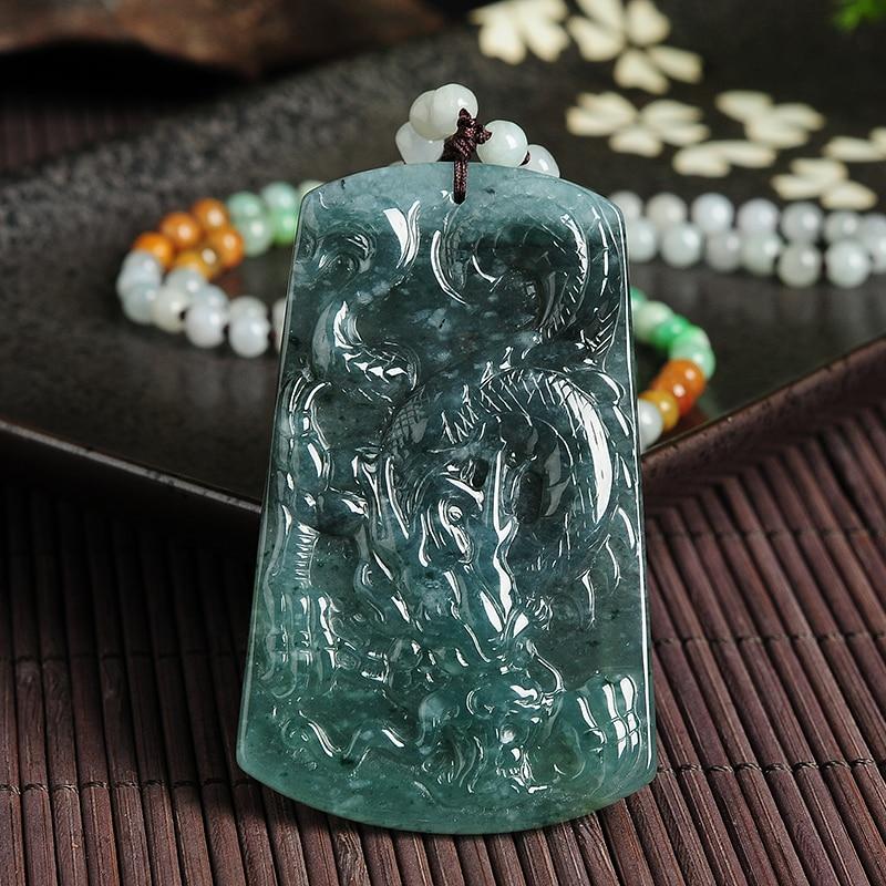 Natural A cargo emerald dragon WH0480 pendants genuine Myanmar jade antique pendants men and women models 65 * 40* 7mm natural a cargo light green jadeite pendants genuine myanmar jade pendant men and women models jade necklace